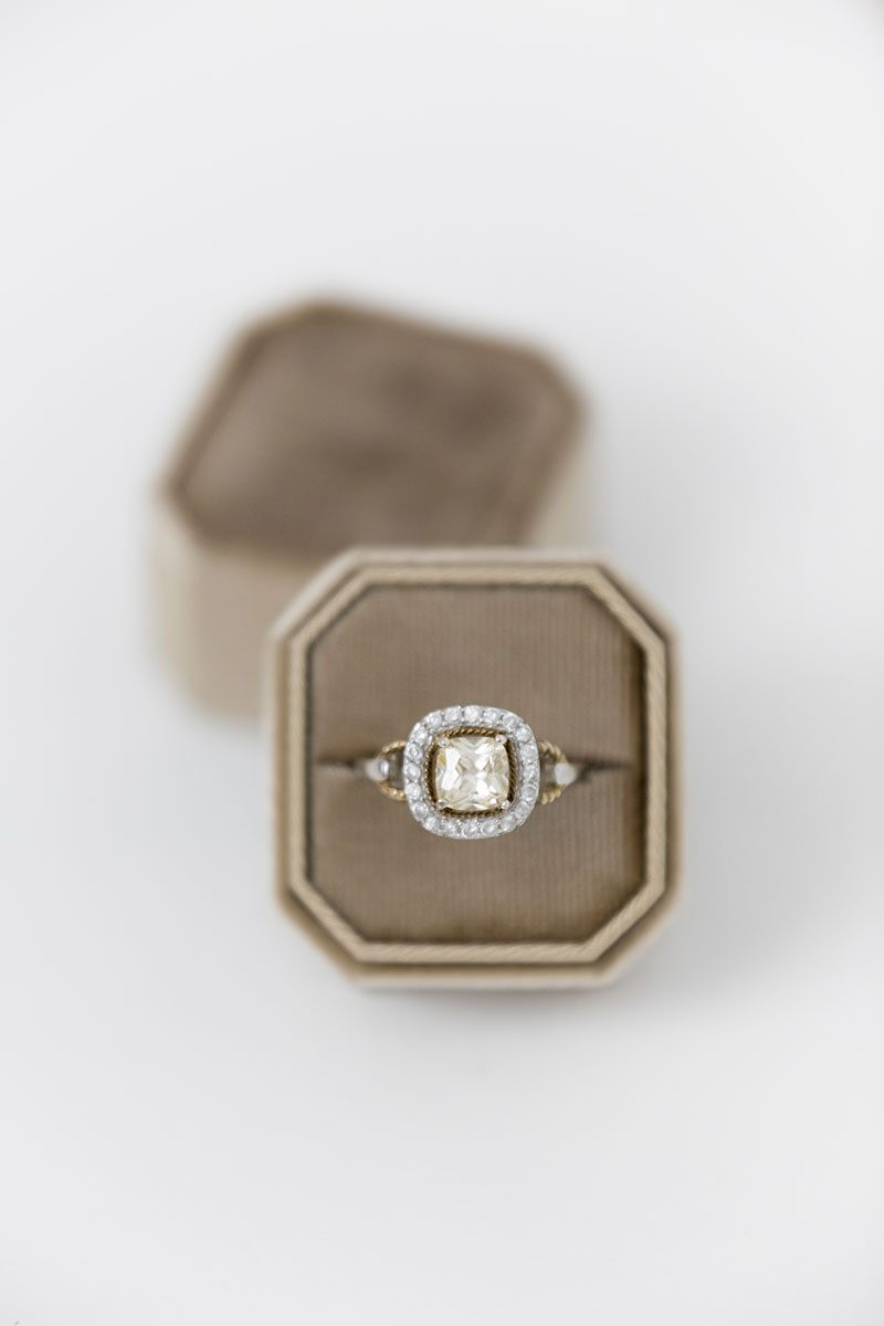 Bark-and-Berry-Taupe-double-slot-vintage-wedding-embossed-monogram-octagon-velvet-ring-box-001-2