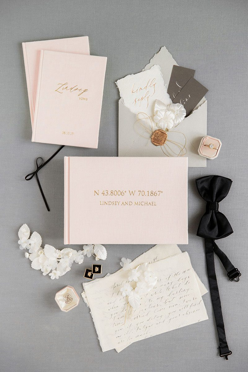 Bark-and-Berry-Blush-vintage-wedding-embossed-monogram-linen-guest-book-001