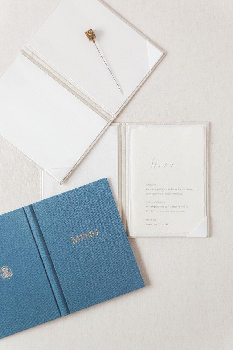 Bark-and-Berry-Sand-Stone-vintage-linen-wedding-embossed-monogram-vows-menu-folder-book-001