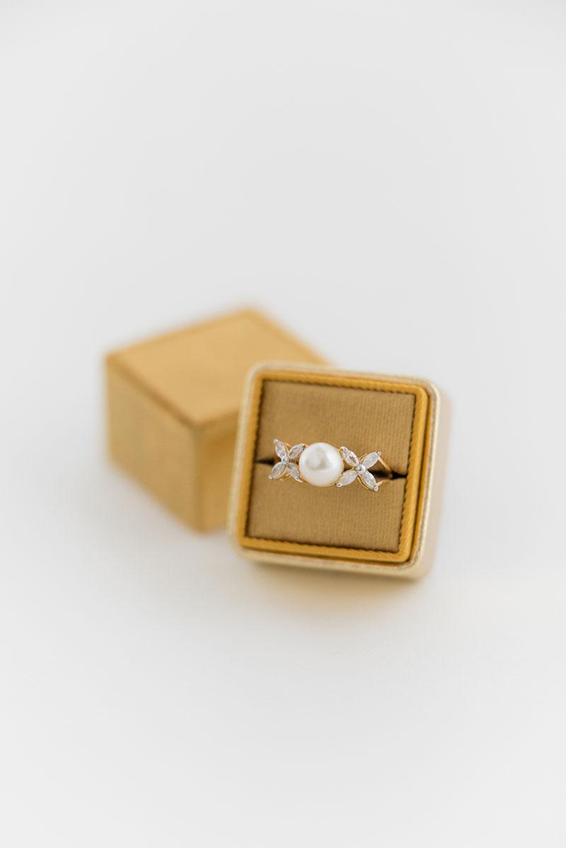 traditional silk velvet wedding ring box leather