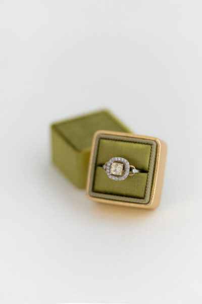 perfect engagement gift ring box for the bride