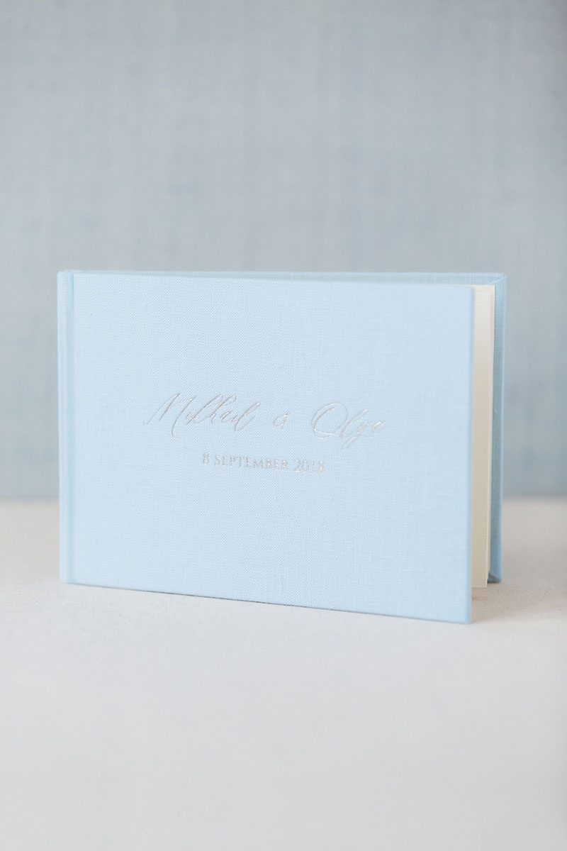 Bark-and-Berry-Azure-vintage-wedding-embossed-monogram-linen-guest-book-001