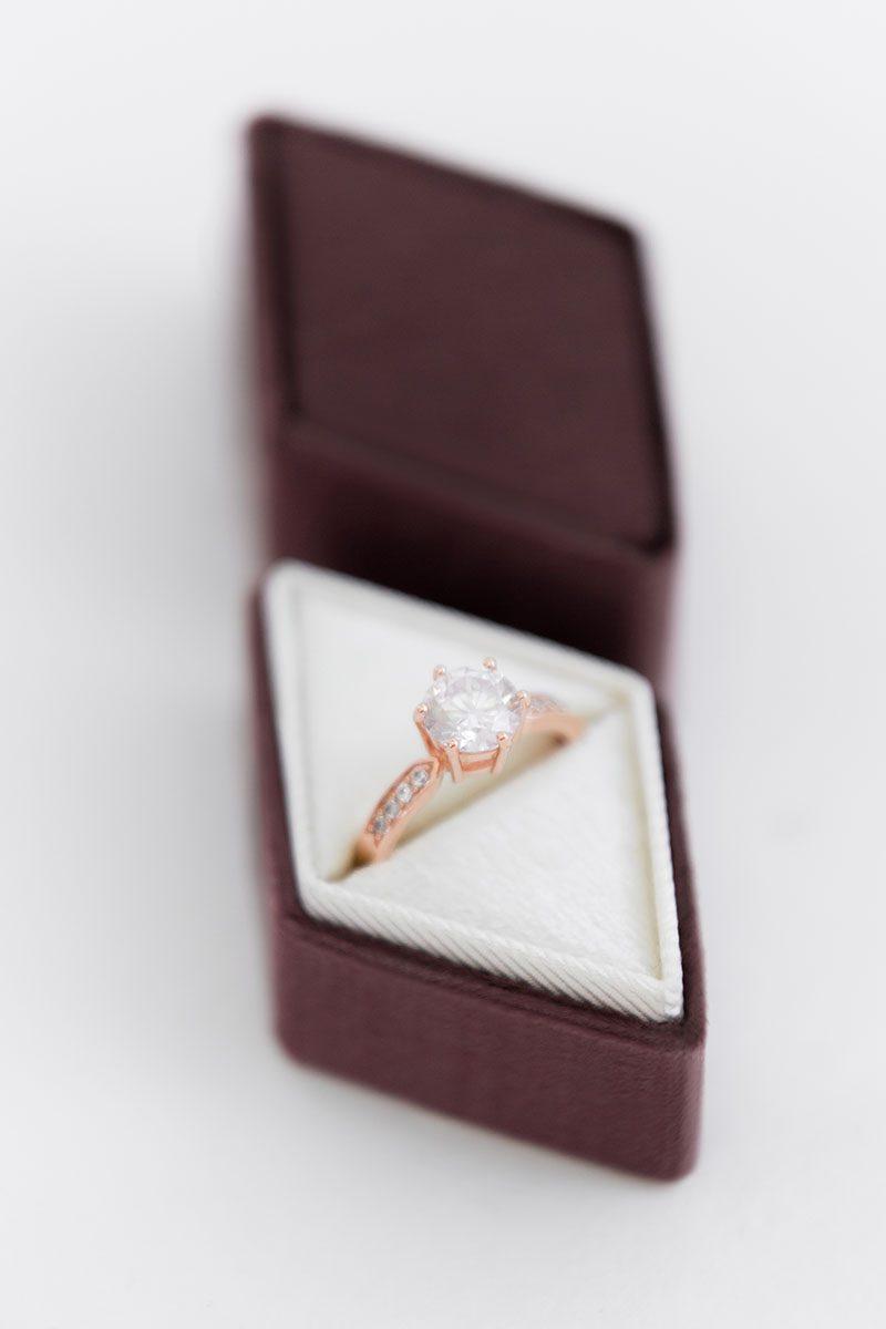 heirloom diamond engagement gift ring box