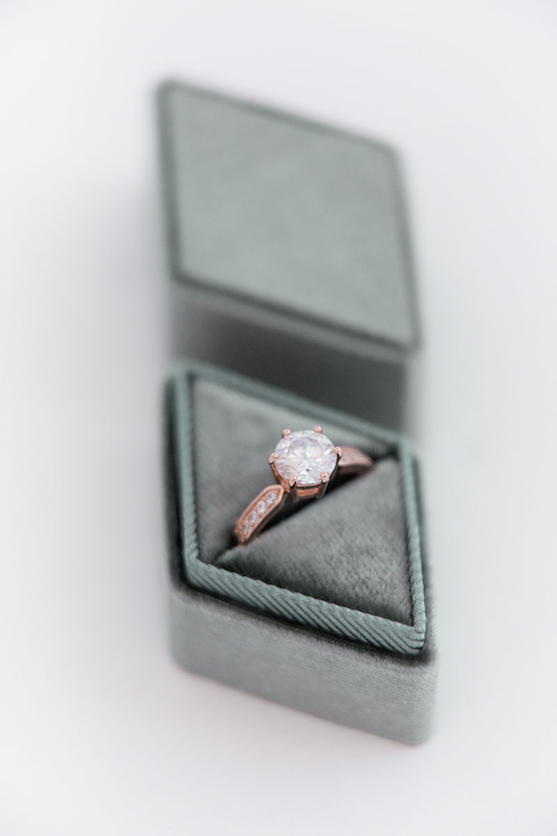 heirloom diamond engagement gift ring box