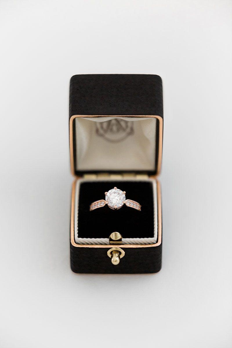 Bark-and-Berry-Ludovic-vintage-wedding-embossed-edge-monogram-black-velvet-rose-gold-foil-leather-ring-box-001