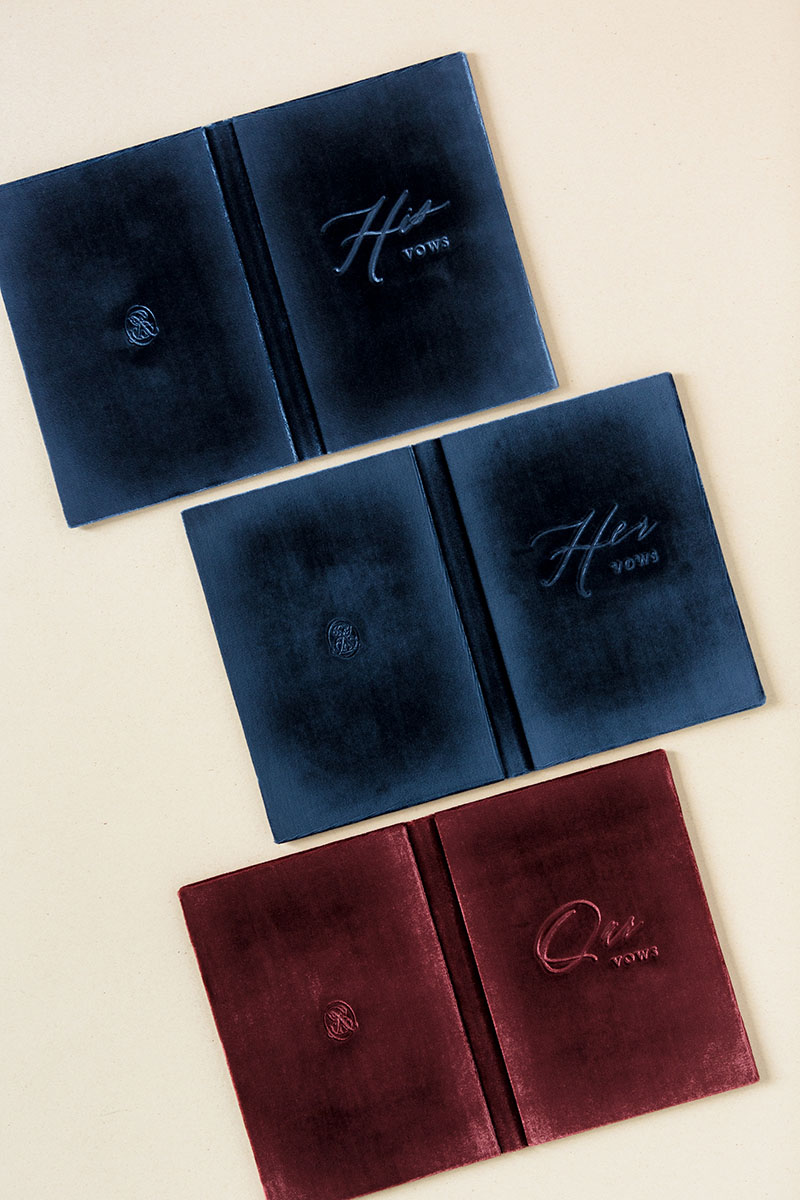 Wedding Stationery Vow Book Covers Velvet Suede Linen Leather