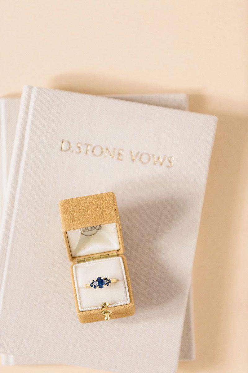 Bark-and-Berry-Ochre-leather-ring-box-Sand-vintage-linen-wedding-embossed-monogram-vows-folder-book-002
