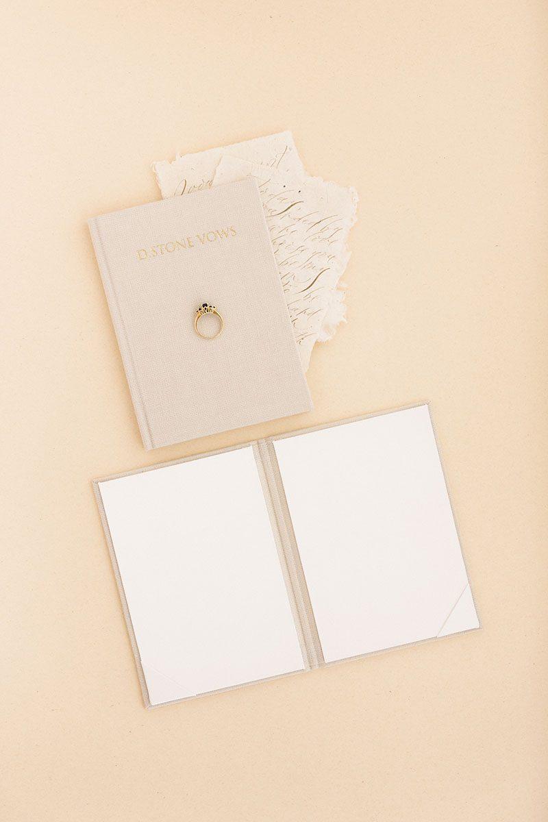 Bark-and-Berry-Sand-vintage-linen-wedding-embossed-monogram-vows-folder-book-010