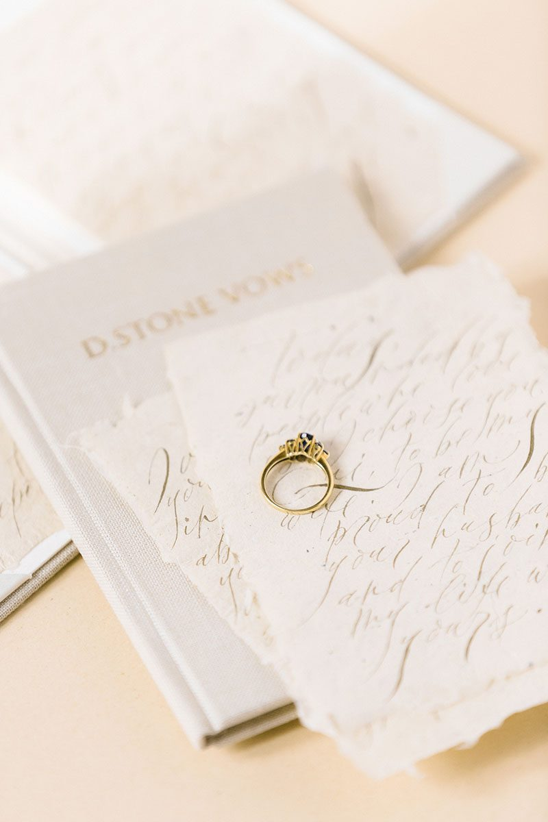 Bark-and-Berry-Sand-vintage-linen-wedding-embossed-monogram-vows-folder-book-012