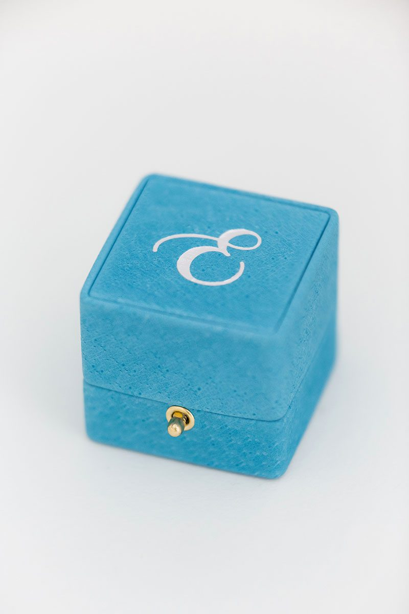 Bark-and-Berry-Grand-Cerulean-double-slot-vintage-wedding-embossed-double-monogram-velvet-leather-suede-ring-box-003