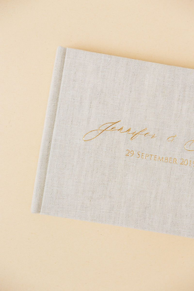 Bark-and-Berry-Oat-vintage-wedding-embossed-monogram-linen-guest-book-002