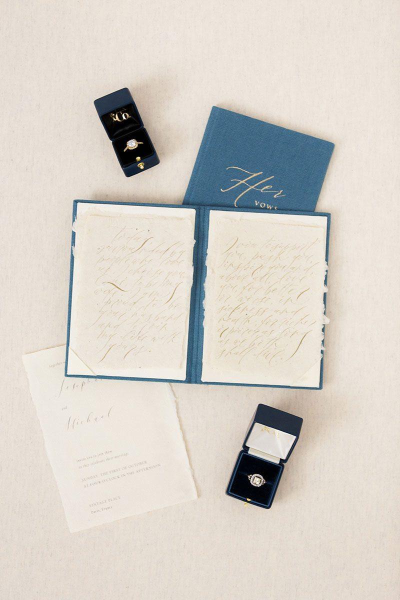 Wedding Stationery vows book menu folio linen velvet leather Silk Russia UK US