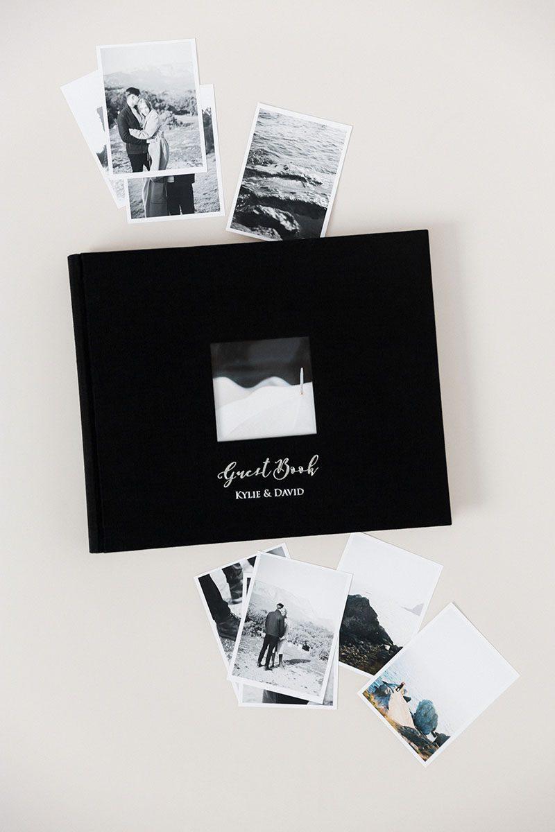 Wedding album linen guestbook