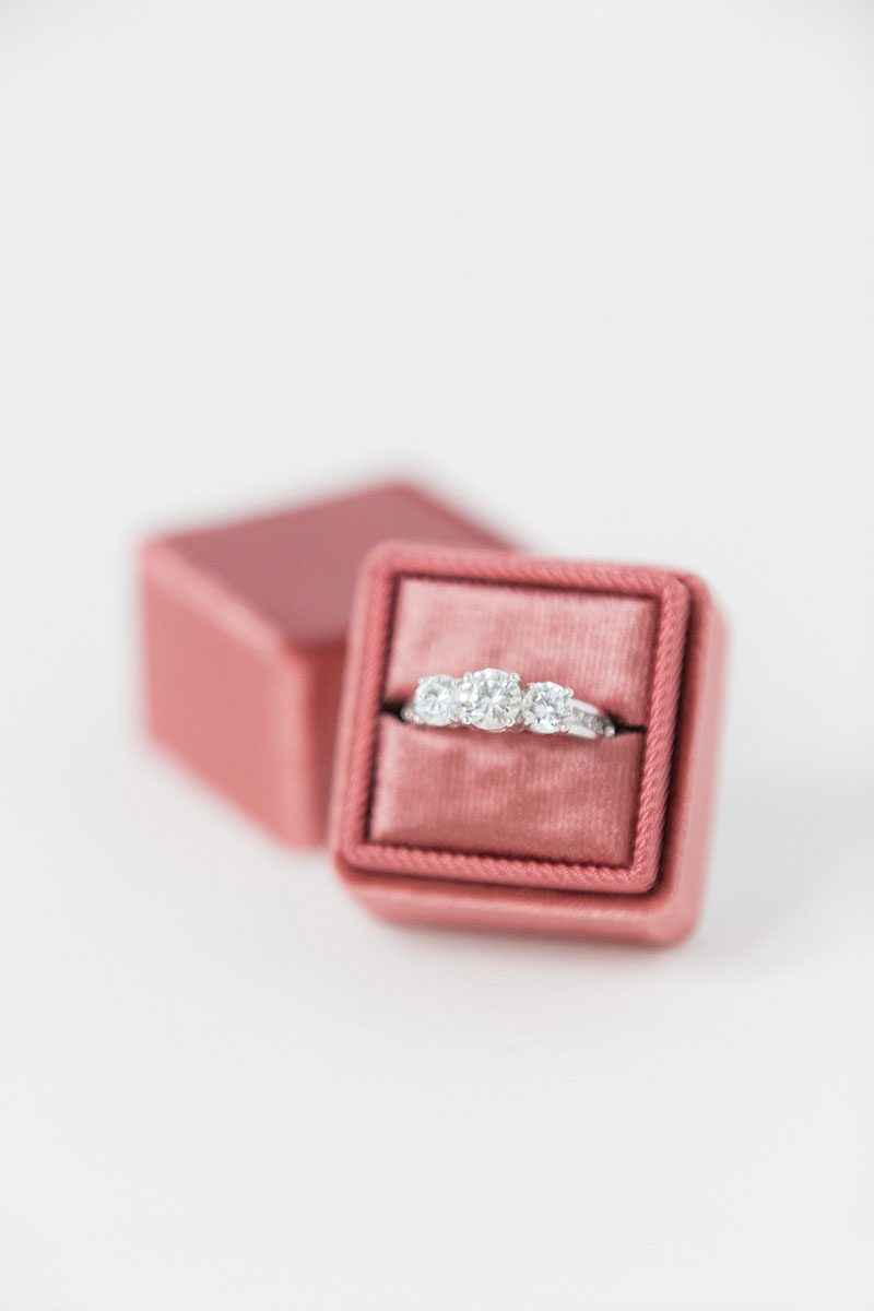 silk velvet wedding ring box