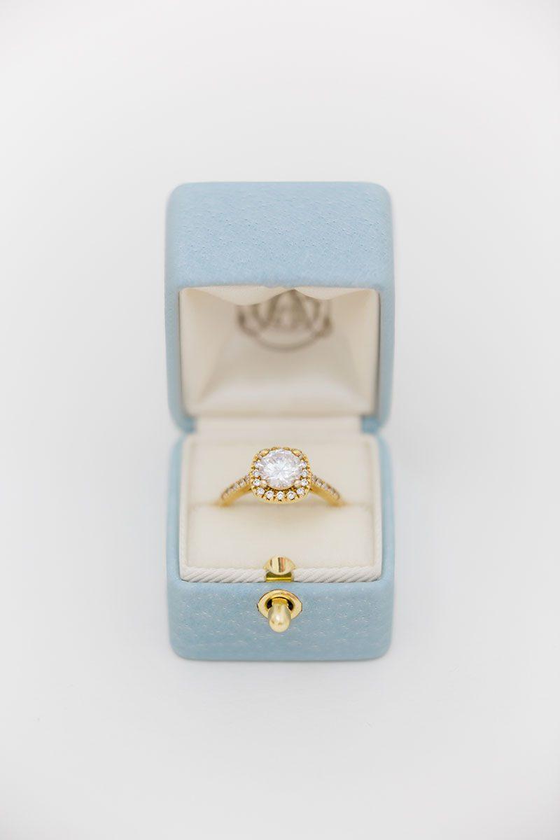 Bark-and-Berry-Grace-vintage-wedding-embossed-monogram-velvet-leather-ring-box-001