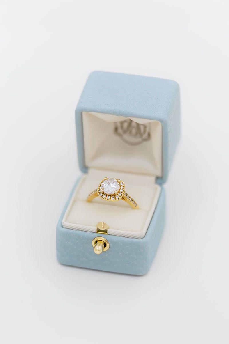 Bark-and-Berry-Grace-vintage-wedding-embossed-monogram-velvet-leather-ring-box-002