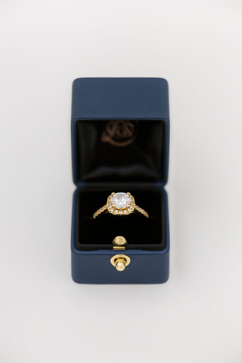 Bark-and-Berry-Nicholas-vintage-wedding-embossed-monogram-velvet-leather-ring-box-001-2