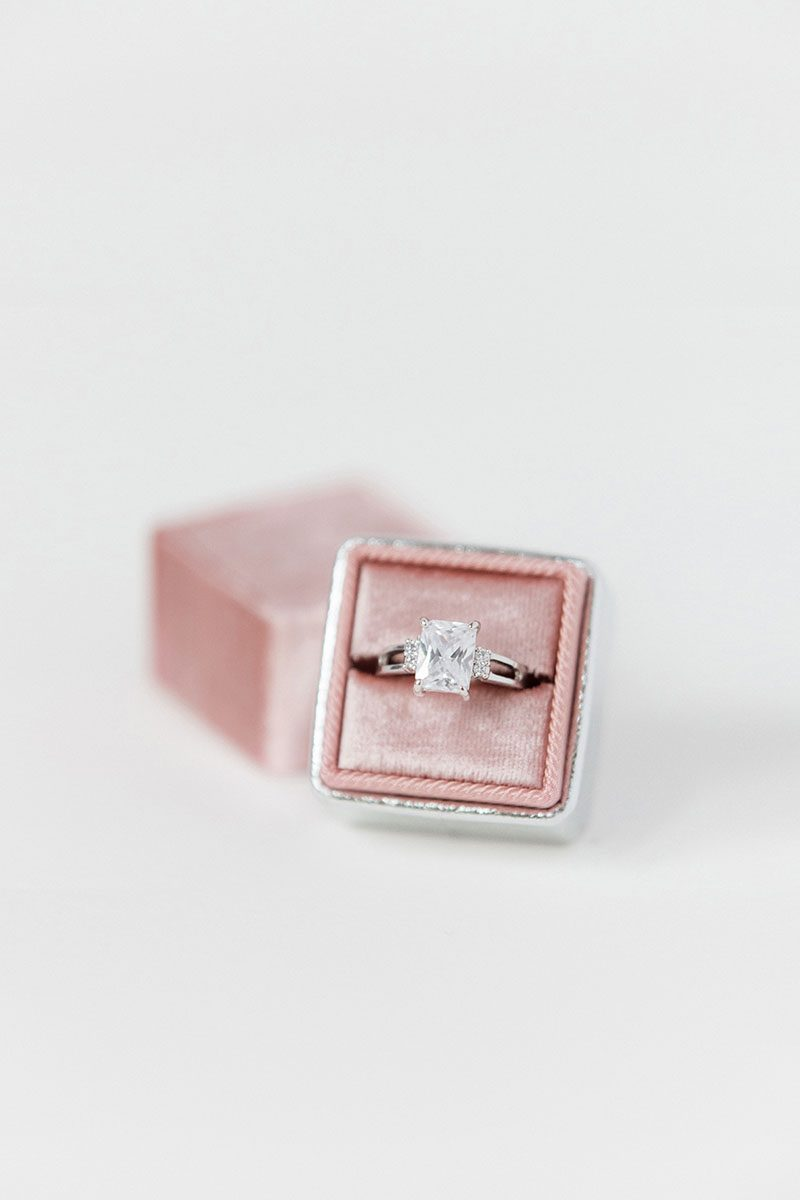 silk velvet wedding ring box