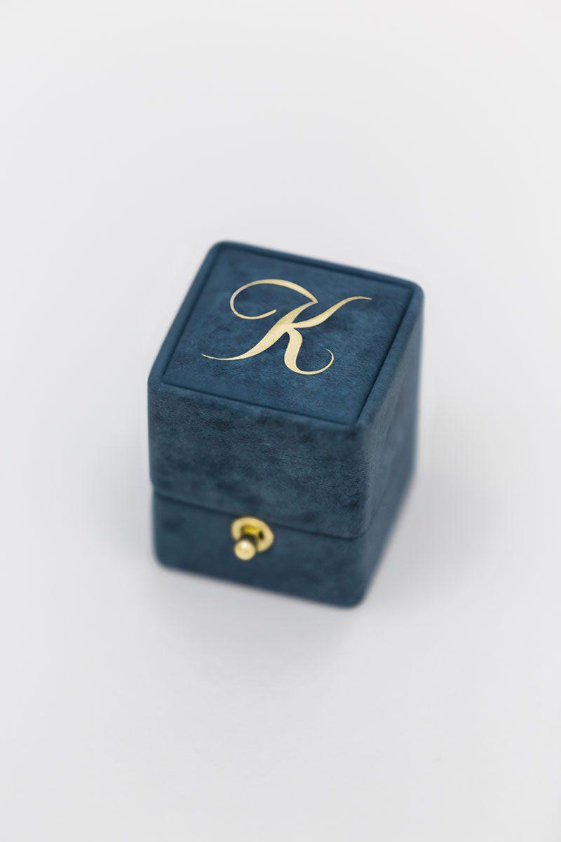 Bark-and-Berry-Marine-vintage-wedding-embossed-monogram-velvet-suede-ring-box-003