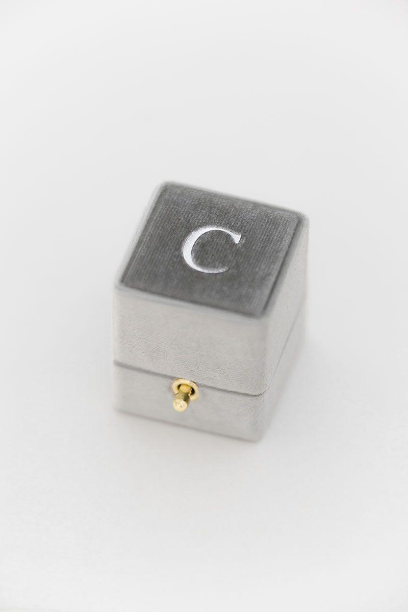 Bark-and-Berry-Fossil-vintage-wedding-embossed-monogram-velvet-ring-box-with-lock-002