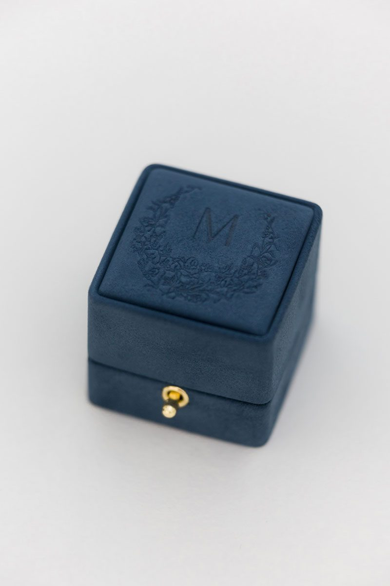 Bark-and-Berry-Nicholas-vintage-wedding-embossed-double-monogram-velvet-suede-grand-ring-box-003