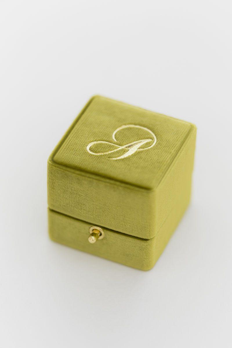 Bark-and-Berry-Olive-vintage-wedding-embossed-monogram-velvet-grand-ring-box-double-single-slot-002