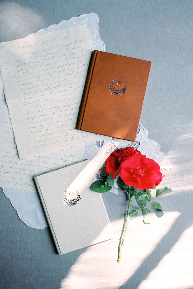 Bark-and-Berry-Alix-Pearl-vintage-leather-wedding-embossed-monogram-vows-folder-book-001