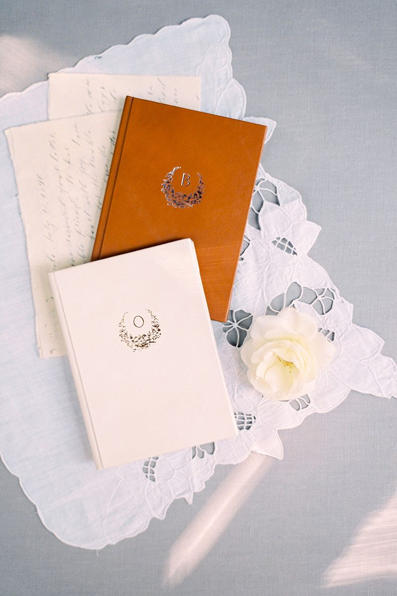 Bark-and-Berry-Alix-Pearl-vintage-leather-wedding-embossed-monogram-vows-folder-book-003