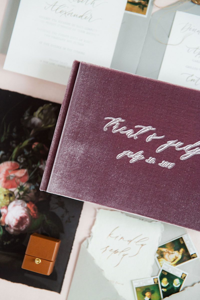 Bark-and-Berry-Amethyst-vintage-velvet-wedding-embossed-monogram-guest-book-240-pages-002