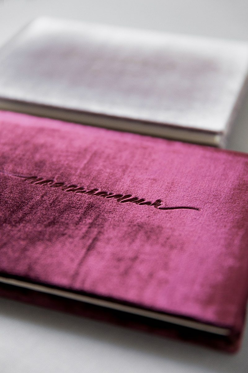 Bark-and-Berry-Plum-vintage-velvet-wedding-embossed-monogram-guest-book-001