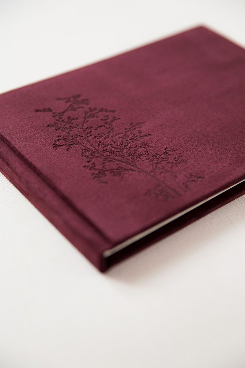 Bark-and-Berry-Victoria-vintage-genuine-suede-wedding-embossed-monogram-guest-book-004