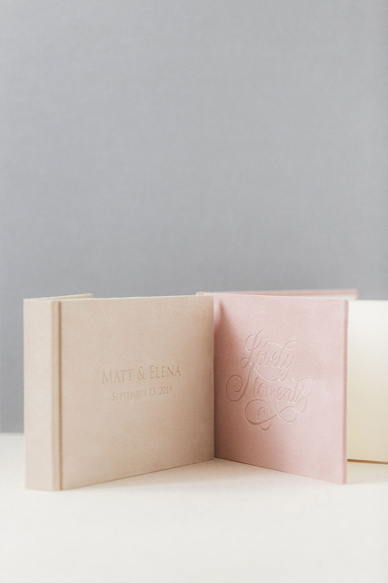 Bark-and-Berry-Anne-Diana-vintage-genuine-suede-wedding-embossed-monogram-guest-book-001-2