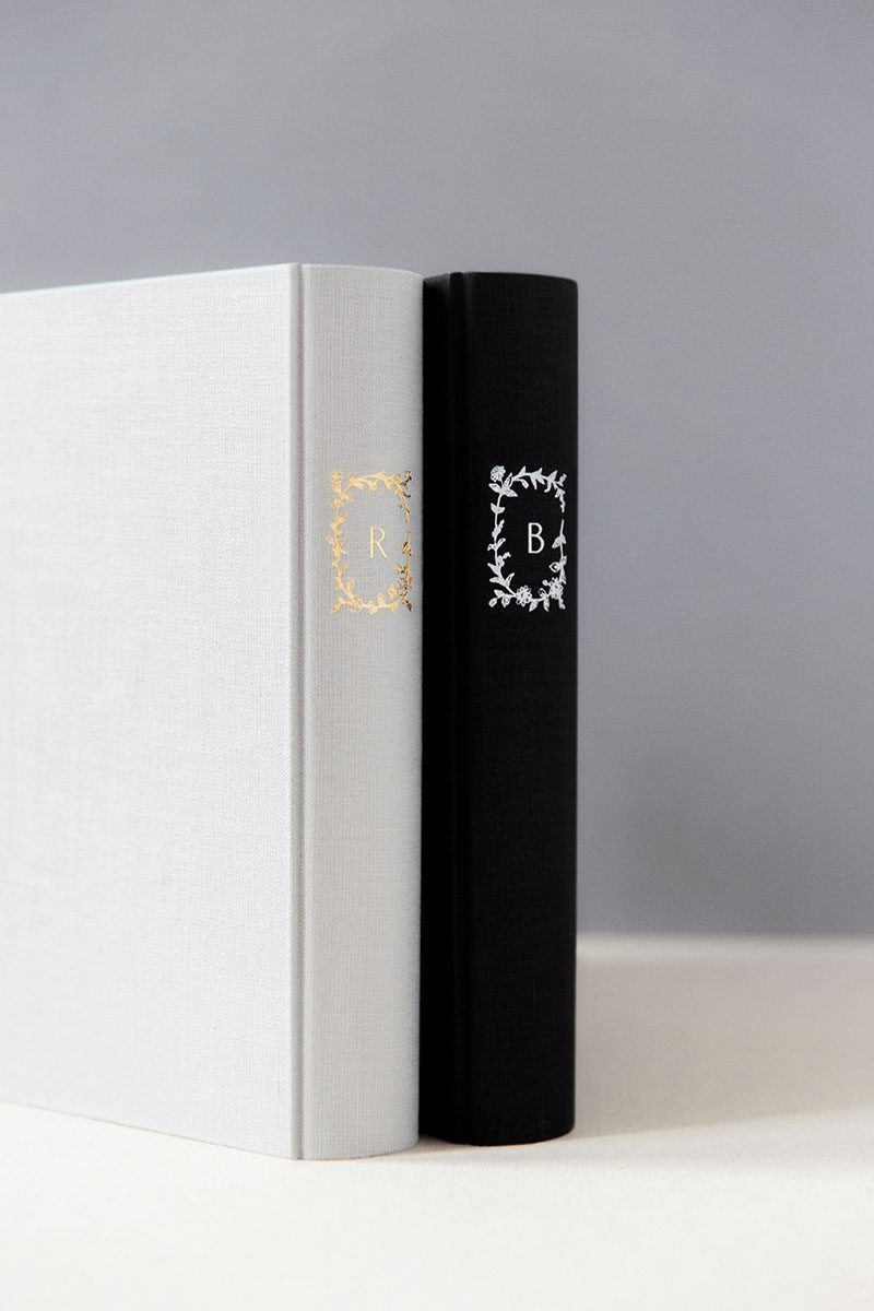 Bark-and-Berry-Cloud-Coal-vintage-linen-wedding-embossed-monogram-guest-book-photoalbum-33x27-001
