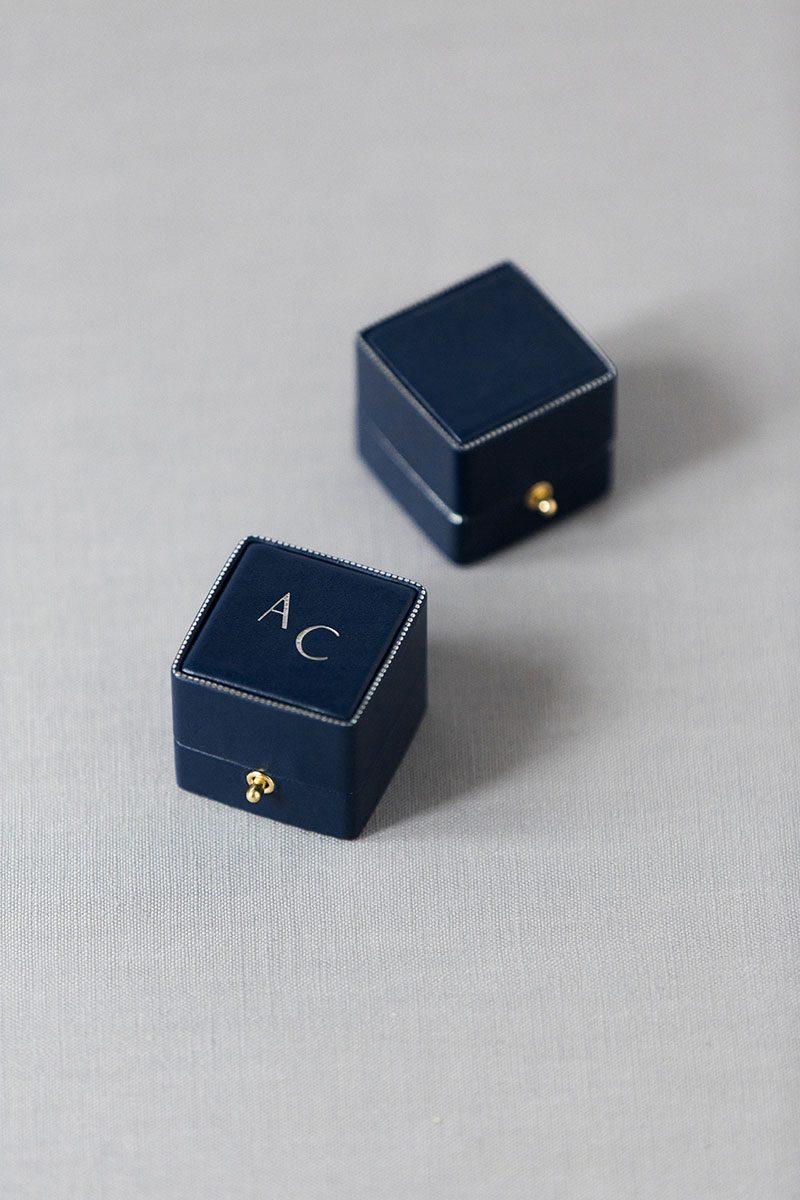 Bark-and-Berry-Grand-Nicholas-vintage-wedding-embossed-edge-dots-monogram-velvet-leather-ring-box-001