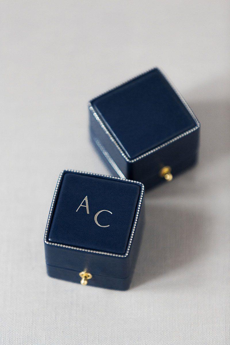 Bark-and-Berry-Grand-Nicholas-vintage-wedding-embossed-edge-dots-monogram-velvet-leather-ring-box-003