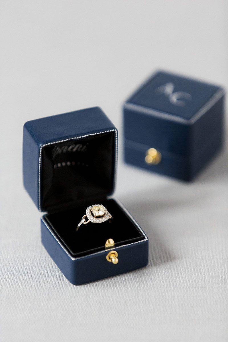 Bark-and-Berry-Grand-Nicholas-vintage-wedding-embossed-edge-dots-monogram-velvet-leather-ring-box-004