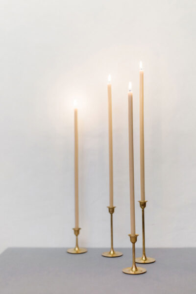 400mm Straight Beeswax Candles
