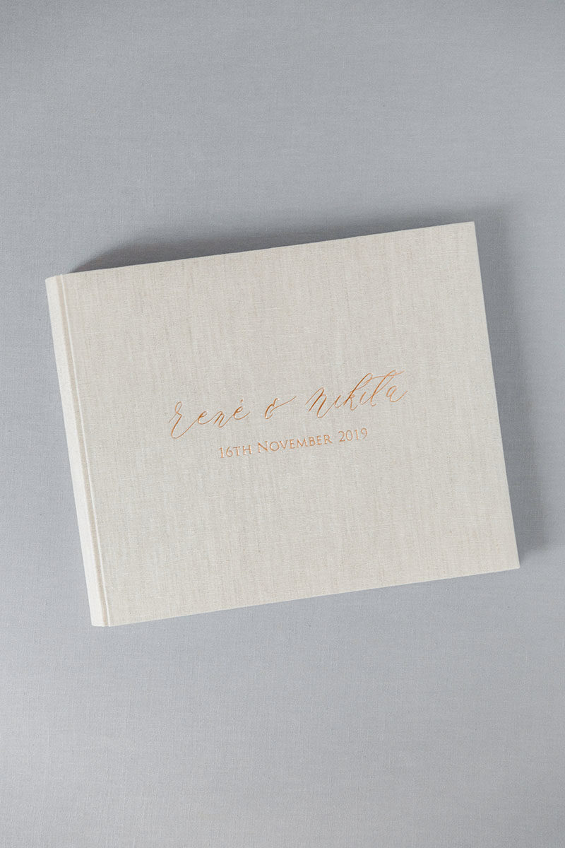 Bark-and-Berry-Oat-vintage-linen-wedding-embossed-monogram-guest-book-photoalbum-33x27-001