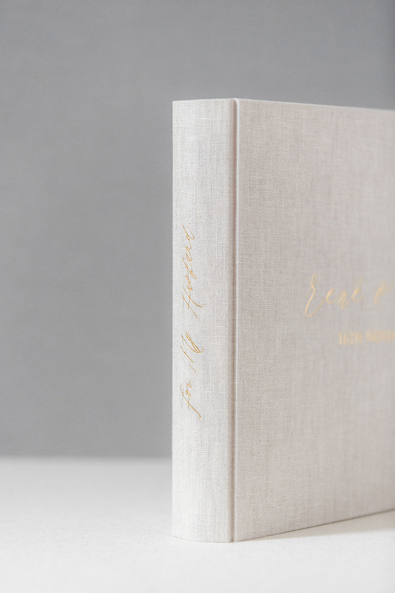 Bark-and-Berry-Oat-vintage-linen-wedding-embossed-monogram-guest-book-photoalbum-33x27-006