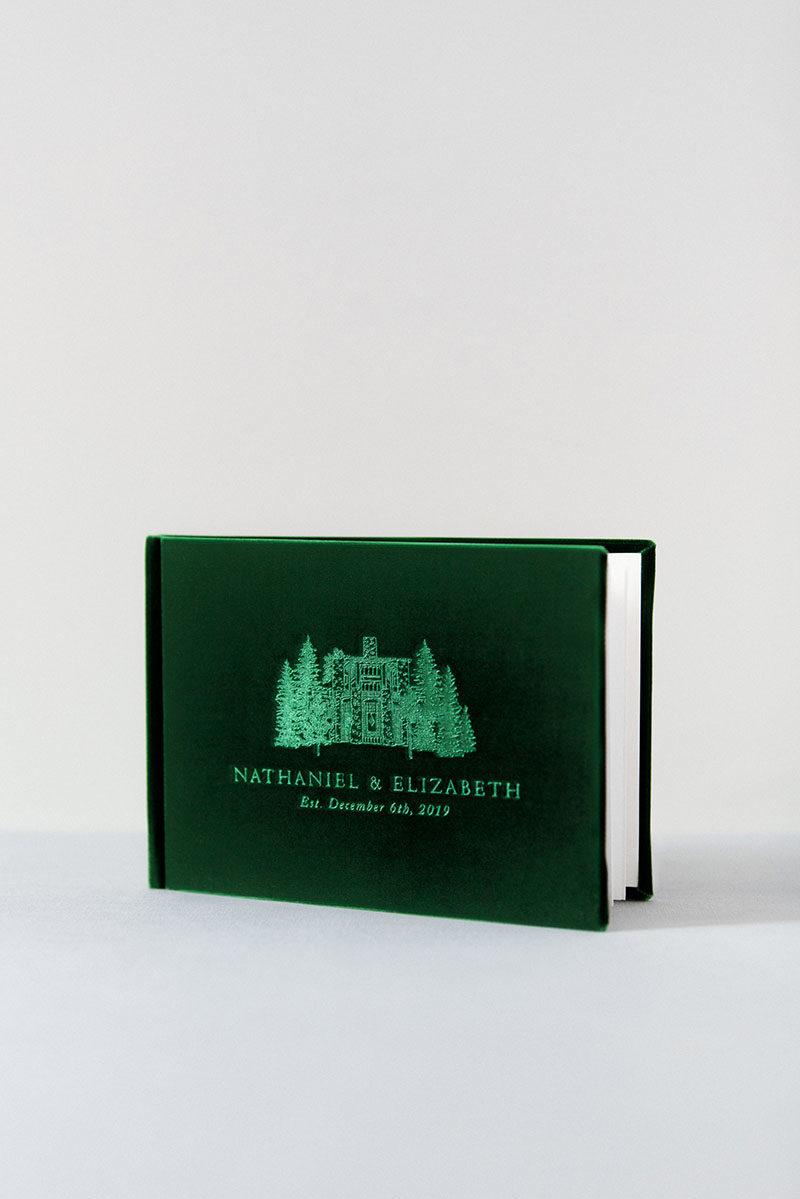 Bark-and-Berry-Eden-vintage-velvet-wedding-embossed-monogram-guest-book-001