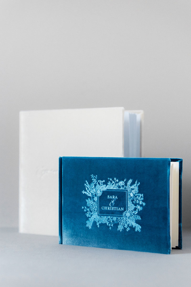 Bark-and-Berry-Peacock-Ivory-vintage-velvet-wedding-embossed-monogram-guest-book-photoalbum-001