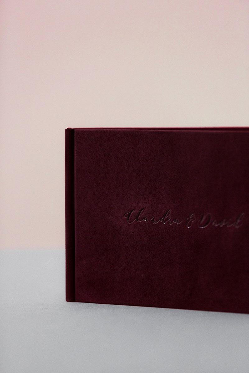 Bark-and-Berry-Victoria-vintage-genuine-suede-wedding-embossed-monogram-guest-book-005