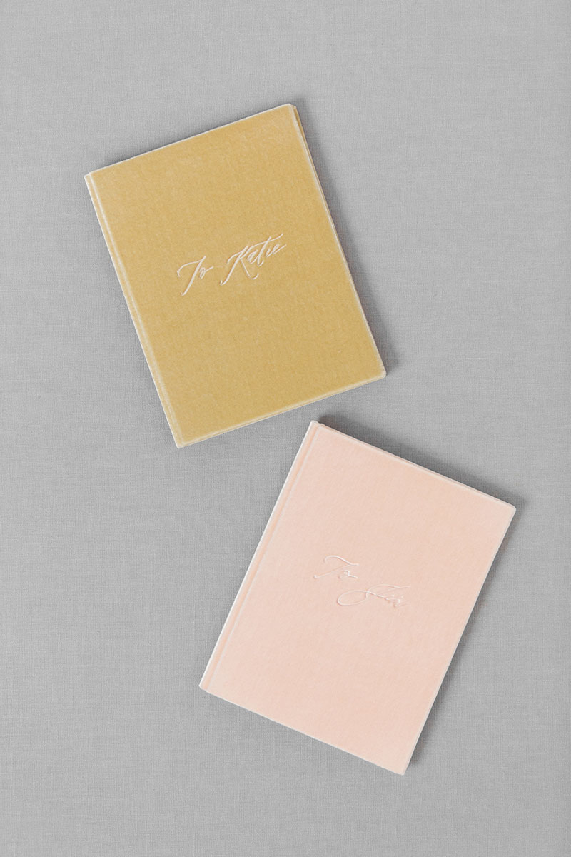 Bark-and-Berry-Blush-Beige-vintage-velvet-wedding-embossed-monogram-vows-folder-book-13x18-001