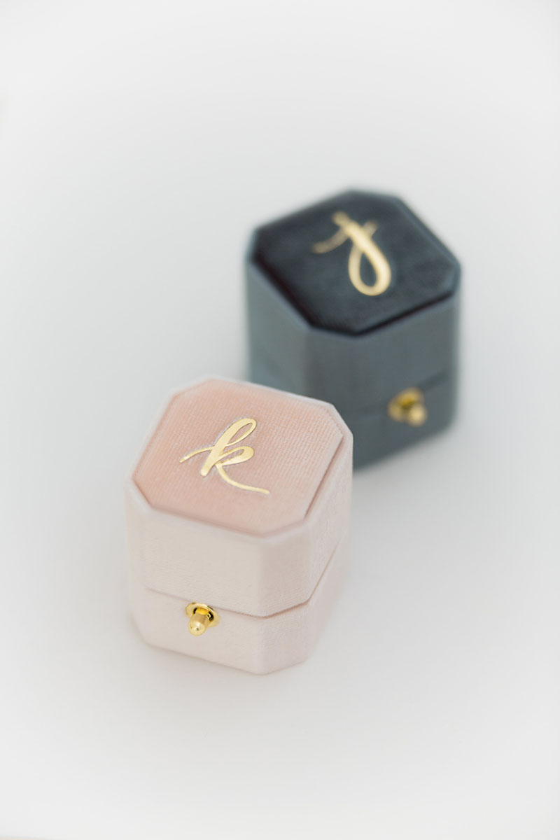 Bark-and-Berry-Blush-Stone-vintage-wedding-embossed-monogram-octagon-velvet-ring-box-with-lock-001