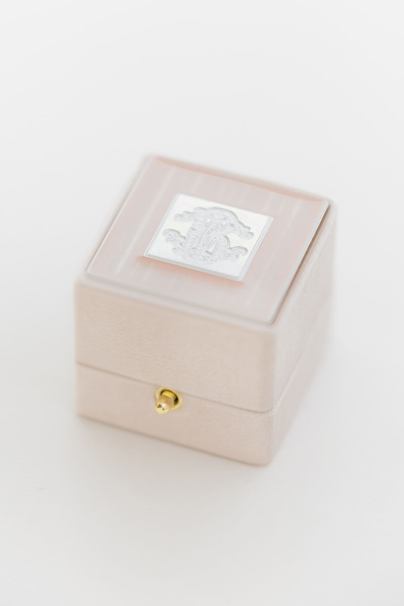 Bark-and-Berry-Grand-Blush-classic-vintage-wedding-embossed-monogram-velvet-ring-box-enamel-guilloche-swarovski-001