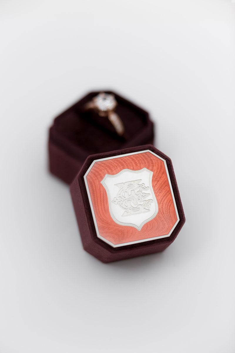 Bark-and-Berry-Petite-Prune-octagon-vintage-wedding-embossed-individual-monogram-velvet-ring-box-enamel-guilloche-001