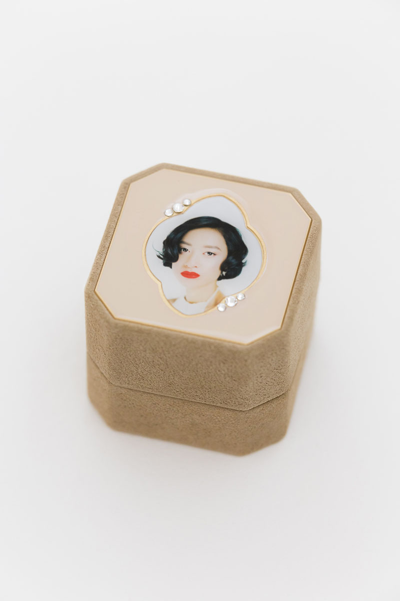 Bark-and-Berry-Grand-Beatrice-octagon-vintage-wedding-embossed-individual-monogram-velvet-suede-ring-box-photo-enamel-guilloche-swarovski-crystals-001