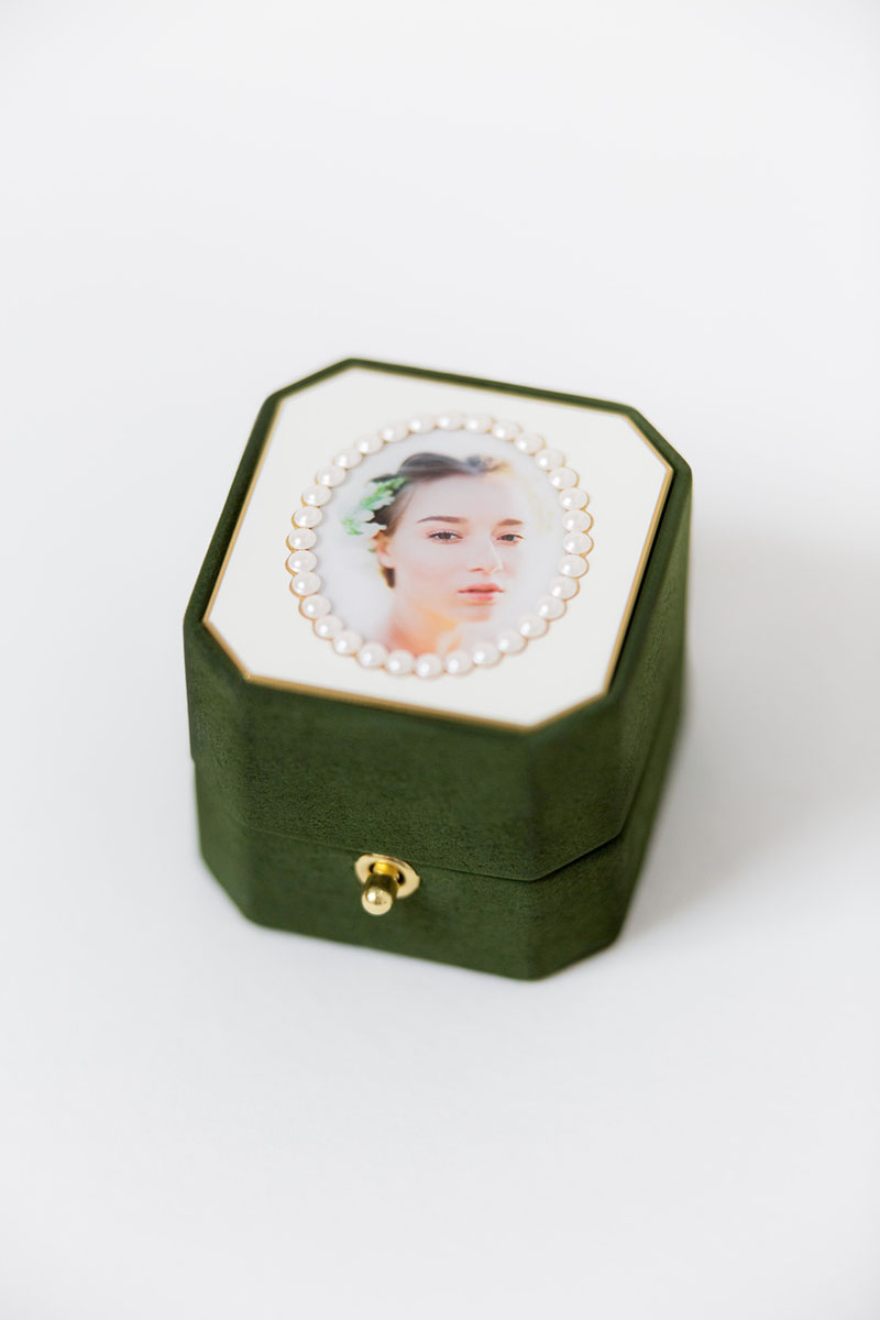 Bark-and-Berry-Grand-Charlotte-octagon-lock-vintage-wedding-embossed-individual-monogram-velvet-suede-ring-box-photo-enamel-guilloche-swarovski-001