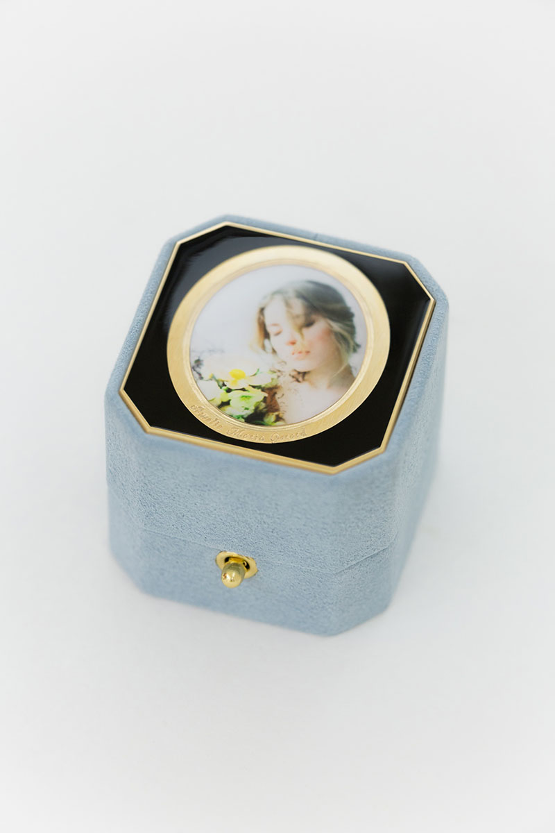 Bark-and-Berry-Grand-Grace-octagon-lock-vintage-wedding-embossed-individual-monogram-velvet-suede-ring-box-photo-enamel-guilloche-002