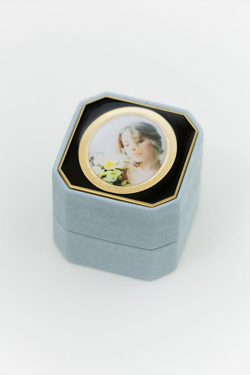 Bark-and-Berry-Grand-Grace-octagon-vintage-wedding-embossed-individual-monogram-velvet-leather-ring-box-photo-enamel-guilloche-001